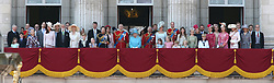 (left to right) Queen Elizabeth II (centre) with members of the royal family on the balcony of Buckingham Palace, in central London, following the Trooping the Colour ceremony at Horse Guards Parade as the Queen celebrates her official birthday.