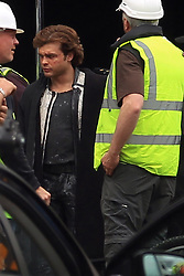 EXCLUSIVE ALL ROUNDER It has been reported that lead actor, Alden Ehrenreich, has been unhappy with the angle co-directors Phil Lord and Chris Miller have been taking the film and that has led to the pair being fired. These are the only pictures of Alden on set of the upcoming movie (others have identified his double as being Alden).<br /> <br /> Alden Ehrenreich, who plays the young Han Solo in the upcoming spin-off Star Wars film, is seen on set for the very first time in costume as filming commences in the UK. As well as a number of extras, Diego Luna was seen on set. Luna played Cassian Andor in the 2016 Star Wars movie Rogue One.<br /> <br /> 17 May 2017.<br /> <br /> Please byline: Vantagenews.com