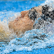 United States swimmer Jacob Pebley swam in  the men's 200m backstroke semifinal at the 2016 Summer Olympics Games in Rio de Janeiro, Brazil.