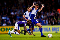 Tom Davies of Bristol Rovers challenges ,Morgan Ferrier of Tranmere Rovers - Mandatory by-line: Ryan Hiscott/JMP - 20/08/2019 - FOOTBALL - Memorial Stadium - Bristol, England - Bristol Rovers v Tranmere Rovers - Sky Bet League One