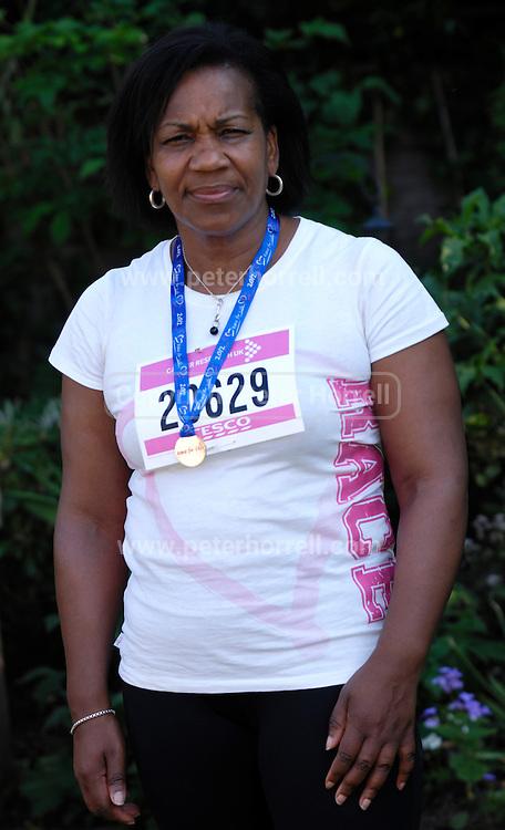 UK, May 27 2012: Lorna Brooks. Race for Life Runner. Copyright 2012 Peter Horrell