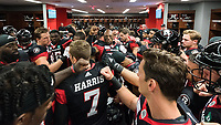 OTTAWA, ON - JUN 21: Inside the RedBlacks locker room prior to the CFL match between the Ottawa RedBlacks and the Saskatchewan Roughriders at TD Place Stadium in Ottawa, ON. Canada on June 21, 2018.<br /> <br /> PHOTO: Steve Kingsman/Freestyle Photography