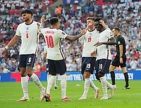 Football - 2022 FIFA World Cup - European Qualifying - Group I - England vs Andorra - Wembley Stadium - Sunday 5th September 2021<br /> <br /> Bukayo Saka of England celebrates scoring goal no 4 with his team mates<br /> <br /> Credit : COLORSPORT/Andrew Cowie