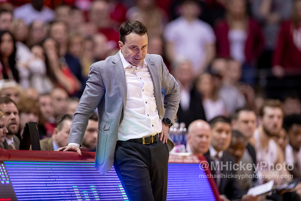BLOOMINGTON, IN - FEBRUARY 23: Head coach Archie Miller of the Indiana Hoosiers is seen during the game against the Penn State Nittany Lions at Assembly Hall on February 23, 2020 in Bloomington, Indiana. (Photo by Michael Hickey/Getty Images) *** Local Caption *** name; name