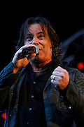 Runrig Live at Edinburgh Castle Esplanade 2008<br /> <br /> 26/07/08<br /> Runrig Lead singer Canadian Bruce Guthro Wow's the crowd with Old favouites and new song's from the Everything You See Album. At  Edinburgh Castle tonight,  Edinburgh.<br /> <br /> Picture by Mark Davison/ Universal News & Sport