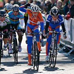 Energiewacht Tour junior women stage 2, Demi De Jong wint in Uithuizen voor Nicky Zijlaard en Floortje Mackaij