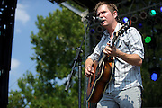 Adam Reichmann performing at LouFest in St. Louis on August 28, 2010.