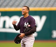 Alex Rodriguez of the New York Yankees during the 2007 Major League Baseball Playoffs.