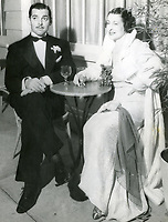 """1/1935 Clark Gable and his second wife Maria """"Ria"""" at the Cafe Trocadero"""