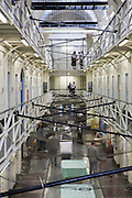 A view of the H wing in the Onslow building at Wandsworth prison..HMP Wandsworth in South West London was built in 1851 and is one of the largest prisons in Western Europe. It has a capacity of 1456 prisoners.