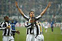 Milano 28-11-04<br /> <br /> Campionato di calcio Serie A 2004-05<br /> <br /> Inter Juventus<br /> <br /> nella  foto  Ibrahimovic esulta dopo il suo gol con Emerson<br /> <br /> Zlatan Ibrahimovic and Emerson Ferreira celebrates goal of 0-2 for Juventus<br /> <br /> Foto Snapshot / Graffiti