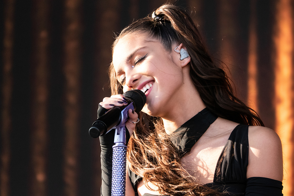 Olivia Rodrigo performs her first concert at the iHeartRadio Daytime Stage in Las Vegas on September 18, 2021.