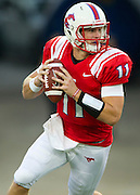 DALLAS, TX - AUGUST 30: Garrett Gilbert #11 of the SMU Mustangs scrambles against the Texas Tech Red Raiders on August 30, 2013 at Gerald J. Ford Stadium in Dallas, Texas.  (Photo by Cooper Neill/Getty Images) *** Local Caption *** Garrett Gilbert