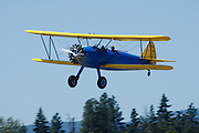 Stearman Model 70, prototype of the famous PT-13, PT-17 series, landing approach.