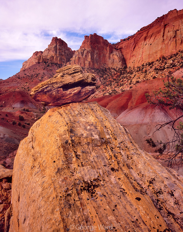 Boulders and Cliffs near Long Canyon, Grand Staircase-Escalante National Monument, Utah