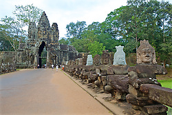 Ankor South Gate Bridge  Leading To Victory Gate