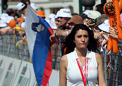 Model girl at  2nd stage of 92nd Giro d'Italia in Trieste, on May 10, 2009, in Trieste, Italia.  (Photo by Vid Ponikvar / Sportida)