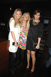 Left to right, EUGENIE WARRE, MARTHA WARD and ALEXANDRA FINLAY at a party to celebrate Imogen Lloyd Webber's 30th birthday and the launch of her Single Girl's Guide held at Vilstead, 9 Swallow Street, London on 27th March 2007.<br /><br />NON EXCLUSIVE - WORLD RIGHTS