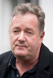 © Licensed to London News Pictures. 10/03/2021. London, UK. Former Good Mooring Britain host PIERS MORGAN talks to media as he leaves his London home the morning after resigning over comments he made about The Duchess of Sussex, Meghan Markle. Photo credit: Ben Cawthra/LNP