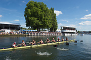 "Henley-on-Thames. United Kingdom.  2017 Henley Royal Regatta, Henley Reach, River Thames. <br /> The Thames Challenge Cup. Thames ""A"" winning the final<br /> <br /> 16:07:43  Sunday  02/07/2017   <br /> <br /> [Mandatory Credit. Peter SPURRIER/Intersport Images."