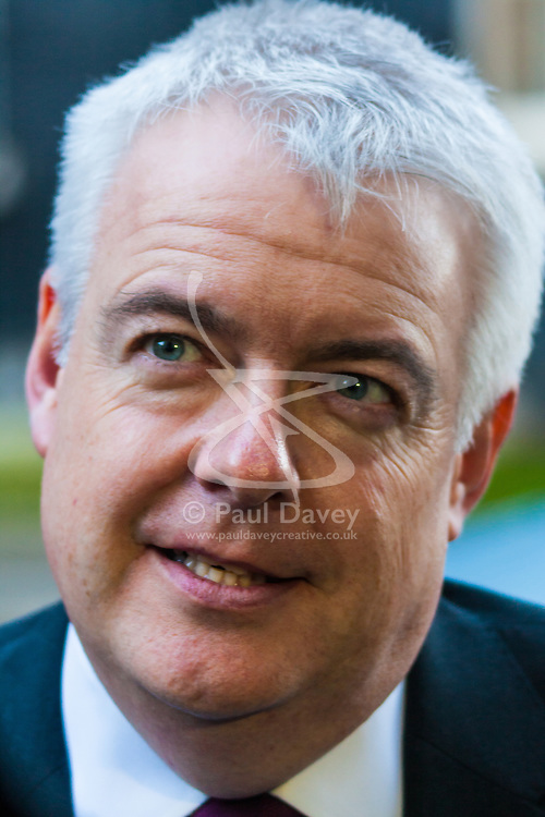 London, December 15th 2014. Northern Ireland's first and deputy first ministers join Scottish and Welsh leaders for Joint Ministerial Committee talks with David Cameron in Downing Street. The talks come three days after Cameron's offer of a financial package for the Northern Ireland Executive was rejected by Stormont. PICTURED:  Welsh First Minister Carwyn Jones talks to the media.