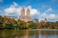 The Lake in Central Park. New York City.