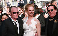 Director Quentin Tarantino and Actress Uma Thurman and actor Michael Madsen at the Palme d'Or  Closing Awards Ceremony red carpet at the 67th Cannes Film Festival France. Saturday 24th May 2014 in Cannes Film Festival, France.