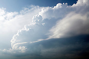 cumulus clouds that indicate change of weather