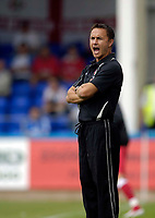 Photo: Jed Wee.<br />Hartlepool United v Swindon Town. Coca Cola League 2.<br />05/08/2006.<br /><br />Swindon manager Dennis Wise.