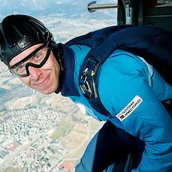 20150310: SLO, Prachuting - Matej Becan of Slovenia parachuting team during practice session