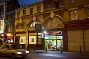 Kebab shop fast food restaurant on Great Eastern Street in East London, UK.