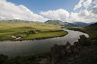 Yellowstone River north of Yankee Jim Canyon, Paradise Valley, Mont.