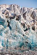 Details of the impressive King's Glacier in King's Fjord, western Spitsbergen, Svalbard.