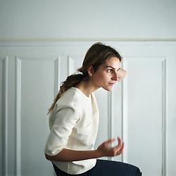 Paris, France. May 22, 2014. Repossi's art director, Gaia Repossi, in her office. Photo: Antoine Doyen