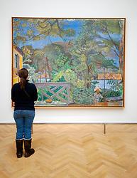 Painting Terrasse de Vernon by Pierre Bonnard at Kunsthalle art gallery in Hamburg German