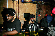 """Questlove and Black Thought(The Roots) at The Roots Album realease party for """"Roots Down"""" at Sutra on April 29, 2008"""".. The Legendary Roots Crew, the influential, Grammy Award-winning American band from Philadelphia, Pennsylvania, famed for a heavily jazzy sound and live instrumentation, have made 10 Albums to date."""