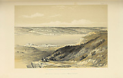 Tiberias and Sea of Galilee looking to Lebanon (North) from The Holy Land : Syria, Idumea, Arabia, Egypt & Nubia by Roberts, David, (1796-1864) Engraved by Louis Haghe. Volume 1. Book Published in 1855 by D. Appleton & Co., 346 & 348 Broadway in New York.