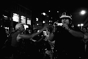 """""""Critical Mass"""" bikeride on the eve of Republican National Convention week, Chelsea, NYC, September 2004"""