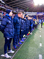 Football - 2016 / 2017 Sky Bet [EFL] Championship - Cardiff City vs. Brighton & Hove Albion<br /> <br /> Cardiff City replacements & staff stand for minutes silence in memory of air crash victims-, at Cardiff City Stadium.<br /> <br /> COLORSPORT/WINSTON BYNORTH