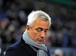 Football: Germany, DFB-Pokal, Hamburger SV - FC Bayern Muenchen, Muenchen, 12.02.2014<br /> coach Bert van Marwijk (Hamburg)<br /> ©pixathlon