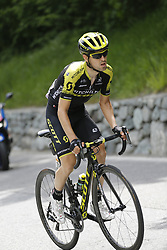 May 26, 2018 - Cervinia, ITALY - Spanish Mikel Nieve of Mitchelton - Scott pictured in action during stage 20 of the 101st edition of the Giro D'Italia cycling tour, 214km from Susa to Cervinia, Italy, Saturday 26 May 2018...BELGA PHOTO YUZURU SUNADA FRANCE OUT (Credit Image: © Yuzuru Sunada/Belga via ZUMA Press)