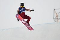 Snowboard , X-Games Oslo <br /> 27. Februar 2016  , 20160226<br /> Snowboard, Big Air Tøyen<br /> Kjersti Østgaard Buaas i ferd med å falle <br /> Foto: Sjur Stølen / Digitalsport