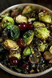Detail of bruselas (Brussells sprouts) at La Marchas Tapas Bar, photographed Wednesday, Jan. 13, 2016, in Berkeley, Calif. (Photo by D. Ross Cameron)