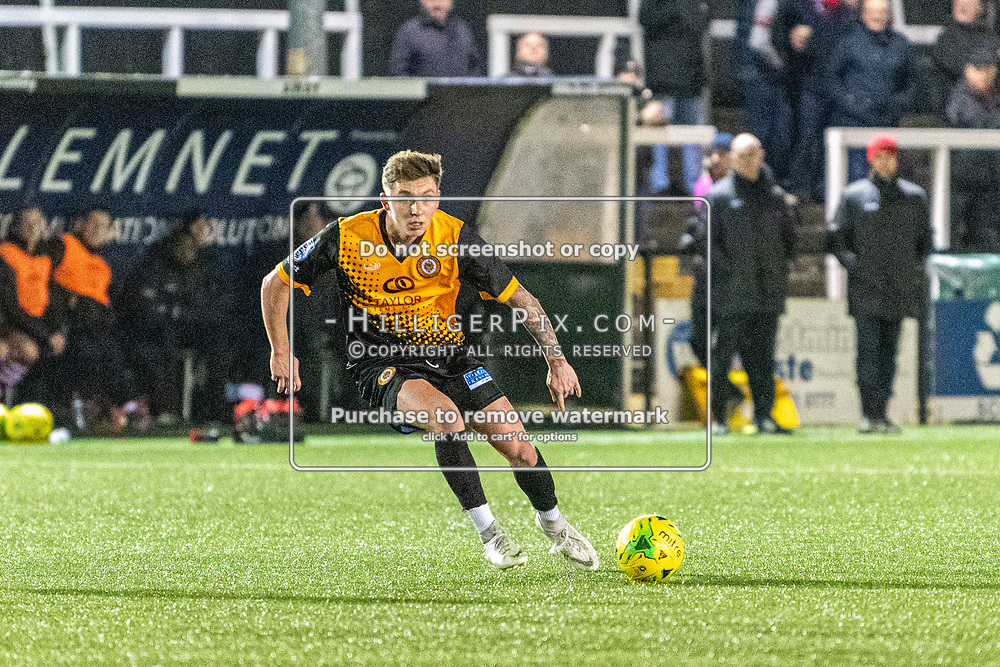 BROMLEY, UK - JANUARY 15: Joel Rollinson,  of Cray Wanderers FC, looks for options during the BetVictor Isthmian Premier League match between Cray Wanderers and Hornchurch at Hayes Lane on January 15, 2020 in Bromley, UK. <br /> (Photo: Jon Hilliger)