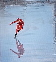 02-03-2014 SCHAATSEN: NK ALLROUND: AMSTERDAM<br /> Op de Coolste baan van Nederland, Olympische Stadion Amsterdam, werden de laatste ritten van het NK 2014 gereden / Yvonne Nauta wint het NK Allround<br /> ©2014-FotoHoogendoorn.nl