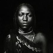 Portrait of Hamer tribeswoman in Turmi, Lower Omo Valley, Ethiopia