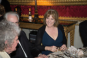 HANNAH ROTHSCHILD, Professor Mikhail Piotrovsky Director of the State Hermitage Museum, St. Petersburg and <br /> Inna Bazhenova Founder of In Artibus and the new owner of the Art Newspaper worldwide<br /> host THE HERMITAGE FOUNDATION GALA BANQUET<br /> GALA DINNER <br /> Spencer House, St. James's Place, London<br /> 15 April 2015