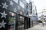 The Depot Tavern on side of First Avenue Nightclub with wall of musician & celebrity stars. Minneapolis Minnesota MN USA