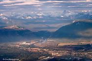 Aerial of Columbia Falls Montana
