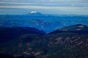 USA, Oregon, aerial landscape looking North to Mt. St. Helens.